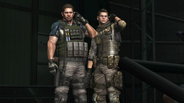 Chris Redfield And Piers Nivans - Resident Evil 6 by JhonyHebert