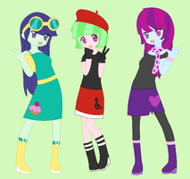 The background girls I remembered from EQG by Imtailsthefoxfan