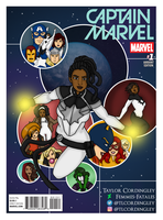 My Favourite Captain Marvel - Homage Cover by Femmes-Fatales