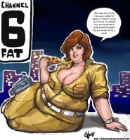 April O'Neil Eats Ninja Pizza by TheAmericanDream