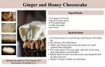 Ginger Honey Cheesecake Recipe by claremanson