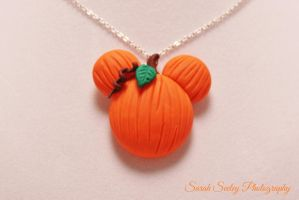 Mickey Mouse Pumpkin Necklace by CharmStop