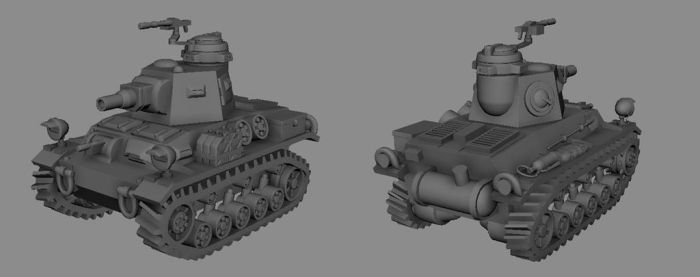 Medium Tank model by Henskelion