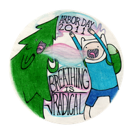 Adventure Time Arbor Day pin by mandymini