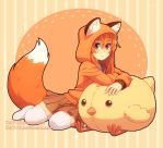 Fox and chick by DAV-19