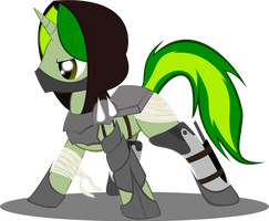 OC Vert Melody: Armored (Updated/Colored) by PedroRabidBunny