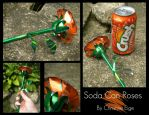 Soda Can Rose - Orange Full by Christine-Eige