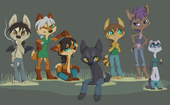 doodle july 2014 Characters by Piasdatter