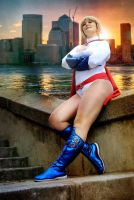Power Girl at sunset by laNane