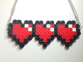 Pixel Heart Life Meter Necklace FOR SALE! by Xecax