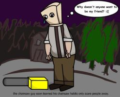 The RE4 Chainsaw Guy's Dilemma by autoacat