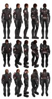 Mass Effect, Spectre Armour, Female Ref. by Troodon80