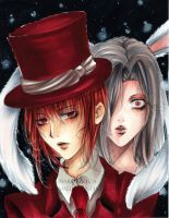 Mad hatter and the Rabbit by Giname