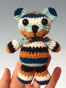 Striped Teddy Bear by Revenia