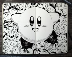 #315 Kirby by 365-DaysOfDoodles