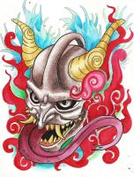 hannya tatto by kkmilo