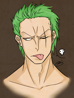 Roronoa Zoro by eagle-eyes