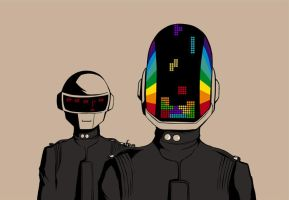 Daft Punk 909 by fireproofmarshmallow
