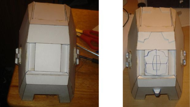 Halo armor: Grenadier knee before an after by DarkFoxProjectX