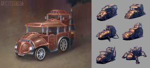 Fantasy Vehicle Concept by LongJh