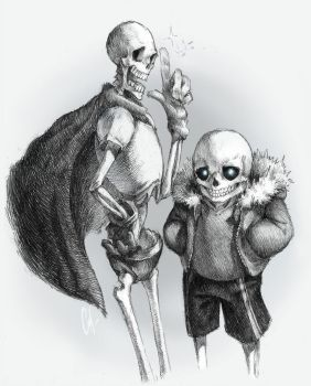 Papyrus and Sans by SALAMANSHE