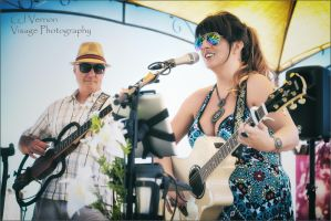 Sarah and Father performing at Heaven Beach by GJ-Vernon