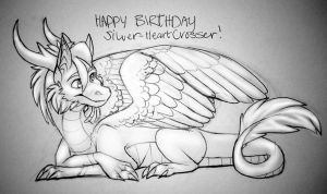 Happy Birthday Silver-HeartCrosser! by aacrell