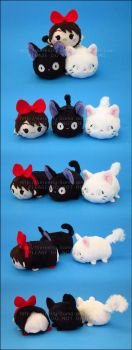 Stacking Plush: Mini Kiki, Jiji and Lily by Serenity-Sama