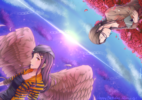 Each Other's Star (Belated HBD to Wingz-G) by BloodyRosalia