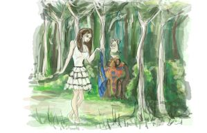 paula concept in the forest by AllPacheco