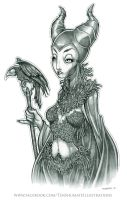 Maleficent sketch by telegrafixs