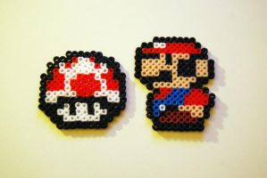 Perler beads: Mario by Photogenic5