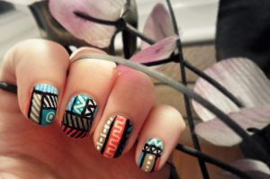 Tribal anyone? by NailedItWithGlitter