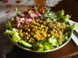 Mixed salad plate by Culu-Bluebeaver