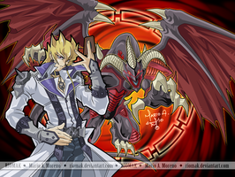 Jack and Red Demon Dragon by Riomak
