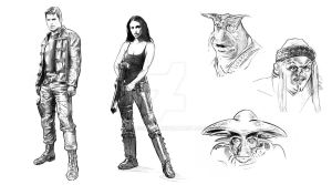 Farscape roughs by jasonpal