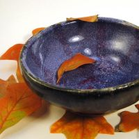 Purple and Red Striped Bowl by bugsandbears
