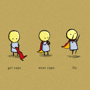 Get Cape. Wear Cape. Fly by muffincopter