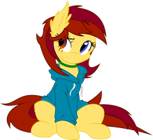 Shyra in a hoodie by a-jewel-of-rarity
