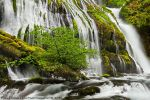 Waterfall - Panther Creek Falls - up close by La-Vita-a-Bella