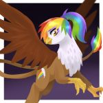 Contest Prize: Rainbow Feather by kilala97