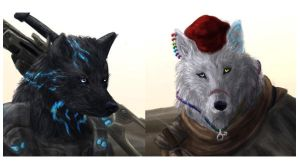 Wolf Heads by FleetingEmber