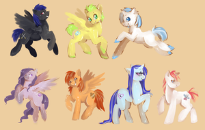OC Pony speedpaints by Busoni