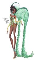 Disney Princesses go Victoria's Secret - Tiana by frozen-winter-prince