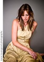 with her gold dress on II by greycamera