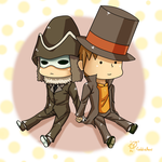 Chibi Descole Layton by GoldieAuvs