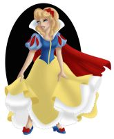+ CINDERELLA as SNOW WHITE + by Opal-I