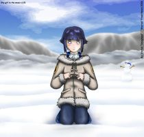 Shy Girl in the Snow by Warran