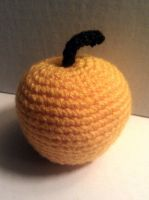 Crochet Golden Apple by KaniKaniza