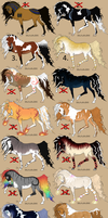 + Horse Adoptables 3  - Lowered Prices! + by Aisuruu